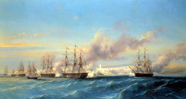 The attack of Mogador by the French fleet in August 1844, Serkis Diranian.