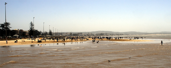 The Essaouira beach Tigh tide