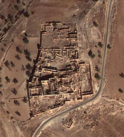 Satellit picture of the ruins at Naknafa