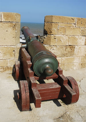 A hsitoric bronze canon  who caused the death of Omar Al Alj