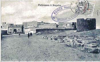 Old postcard of Bab Doukkala and the old Jewish cementary