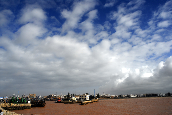 Clouds over Essaouira Port