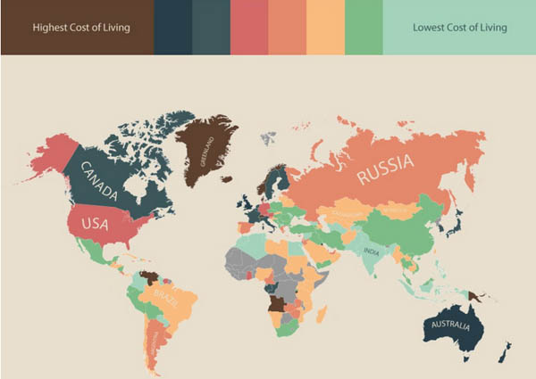 Cost of living in the world