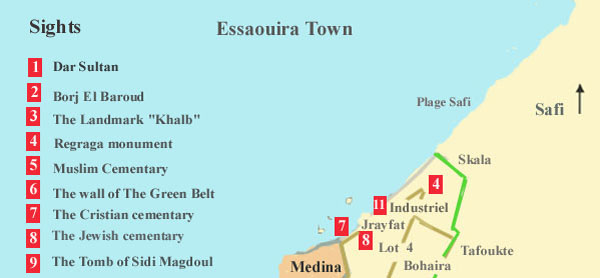 Map of Essaouira Town north