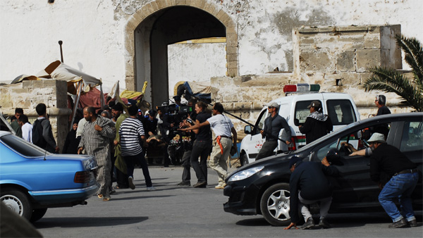 Shooting of a film in Essaouira port