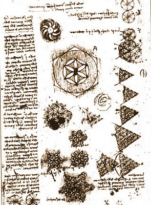 the Flower of Life by Leonardo da Vinci'