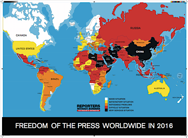 Freedom of the press 2016