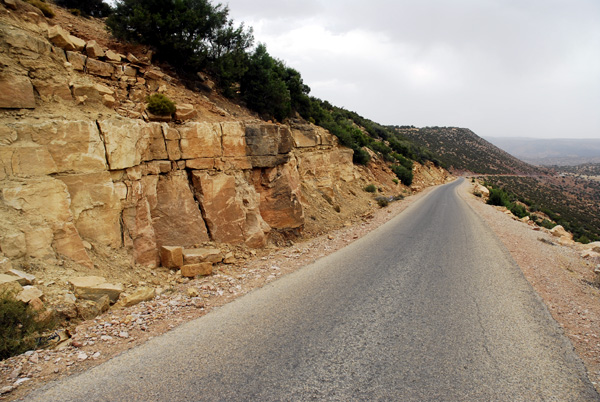 Natural stones by roadside Ait Daoud
