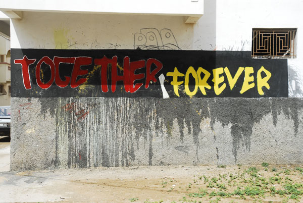 Together Forever  On the wall of a house in living quarters Bogaira