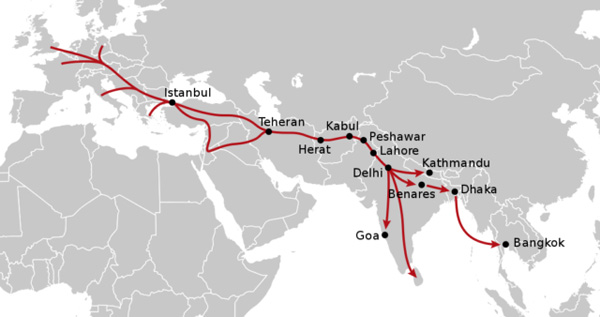 The classic hippie trail