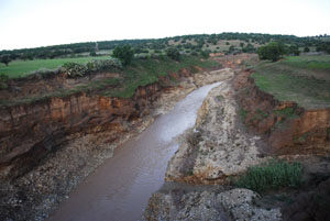 The river Oued Ksob