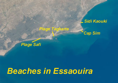 Map of Beaches in Essaouira