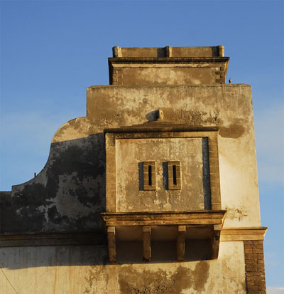 Tower with a balcony
