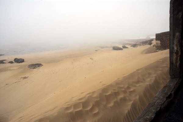 Mist at the beach from Bab north  Doukkala