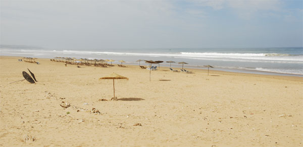 The beach of Sidi Kaouki