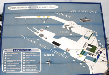 Map of the port