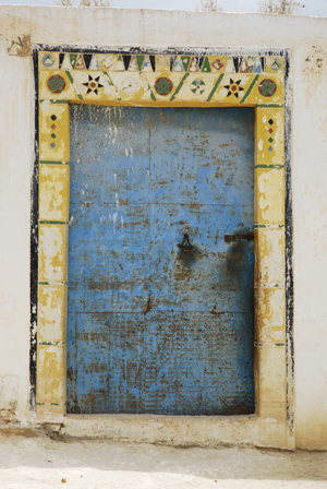 Tribal door in Aorir