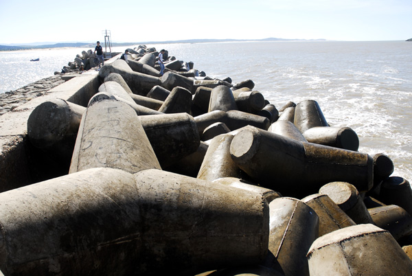 Concrete tetrapods protecting the pier at Essaouira harbour