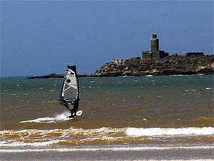 Windsurfing in the bay of Essaoura